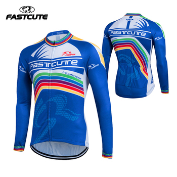 FASTCUTE Nefes % Polyester Bisiklet Formalar Uzun Kollu Bisiklet Giyim erkek Bisiklet Giyim Spor Ropa Ciclismo 2017