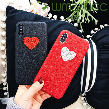 WMZSUCC Cute Bling Love Heart Case For iPhone 8 /6s 6plus 7 plus for iphone X Soft Cases Back Cover Skin